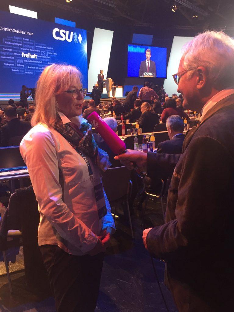 Barbara Regitz im Interview auf dem Parteitag der CSU