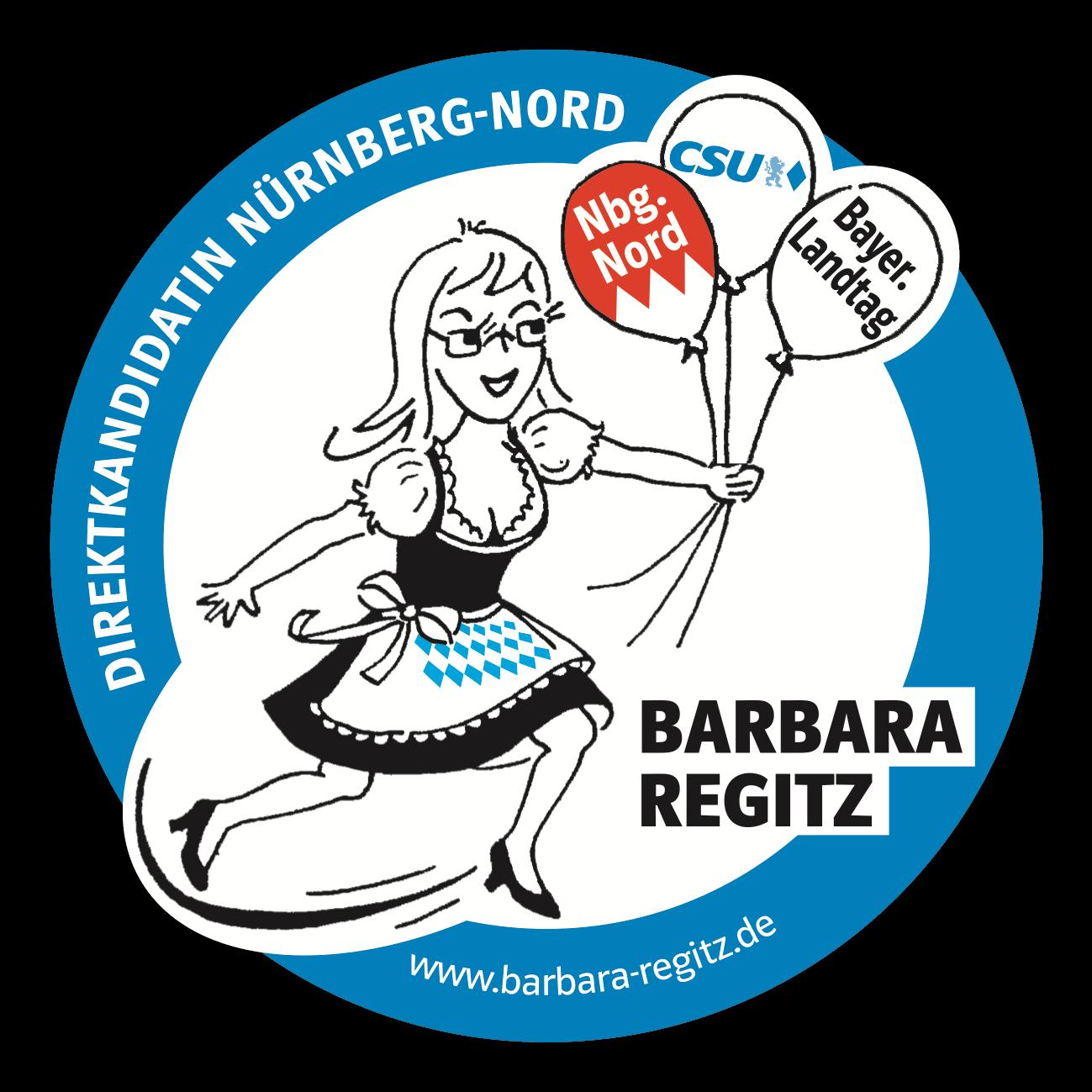 Barbara Regitz, Direktkandidatin Nürnberg Nord, Landtagswahl 2018, Bierdeckel