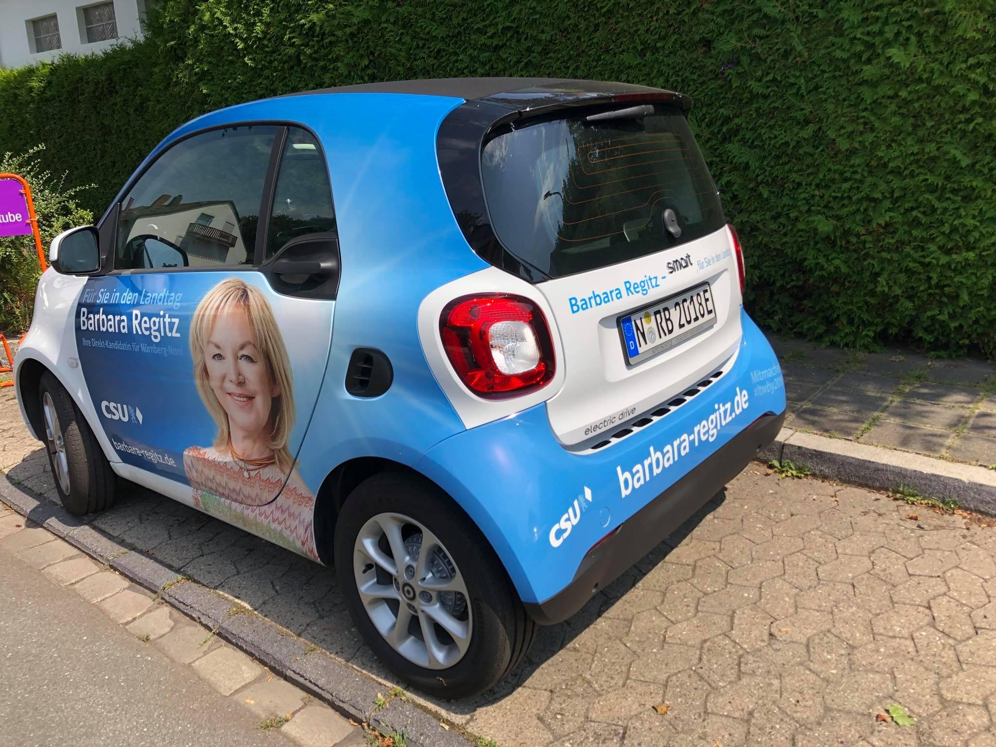 Unterwegs im Nürnberger Norden- mit dem E-Smart ist es easy;)