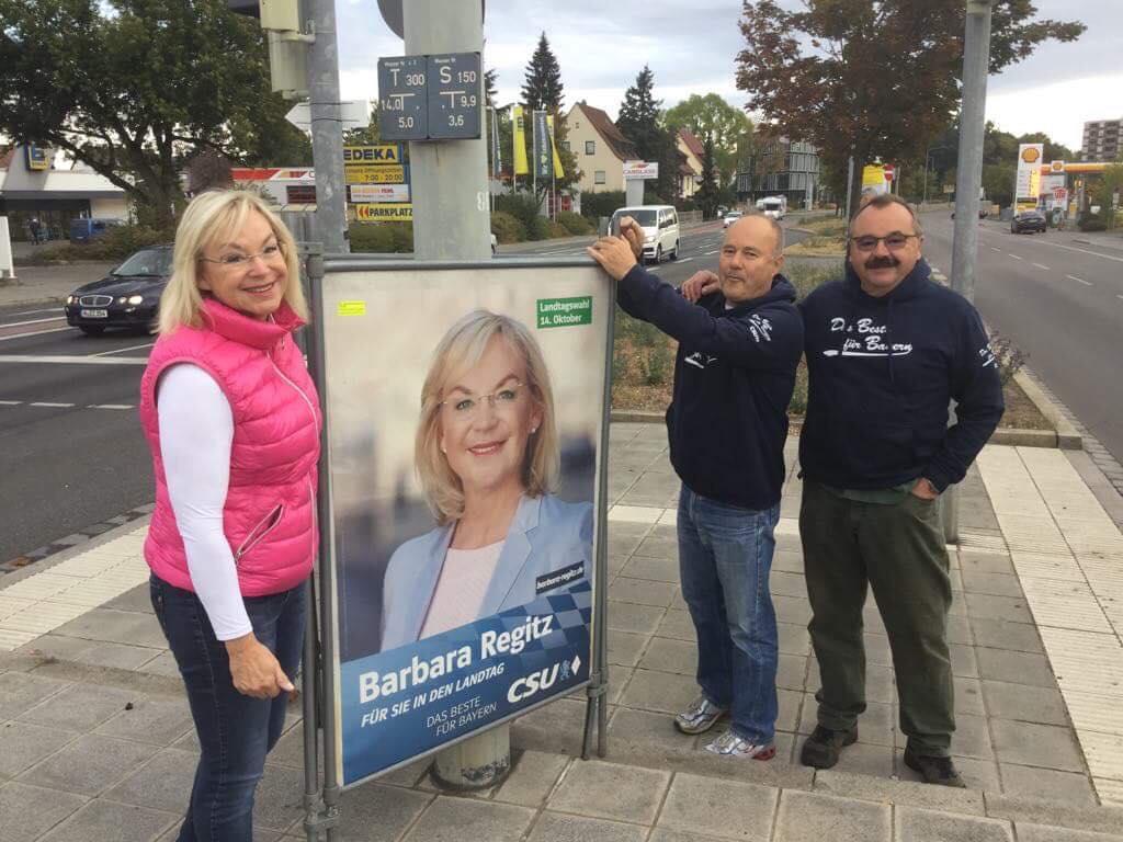 Landtagswahl: So werben Politiker in Nürnbergs Innenstadt. Barbara Regitz, CSU